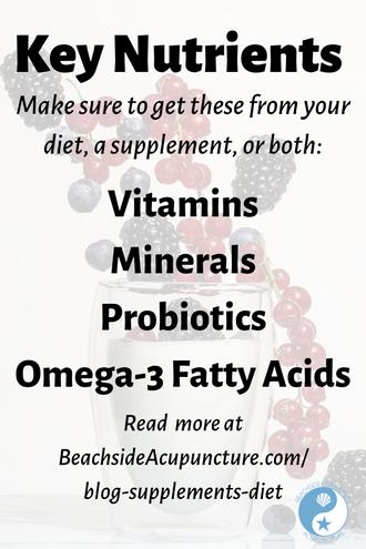 Key Nutrients: Vitamins, minerals, probiotics, omega-3 fatty acids on the Beachside blog