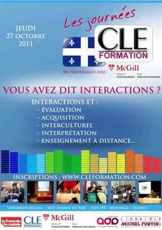 Affiche des Journées CLE Formation à Montréal - 2011
