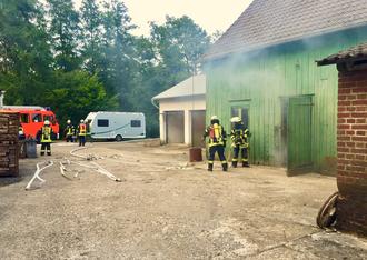 Innenangriff Feuerwehr Lüdorf