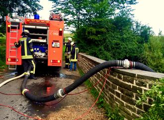 Saugleitung Feuerwehr Lüdorf