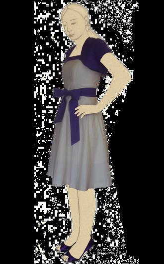 maßgeschneidertes hochzeitskleid aus fairtrade satin