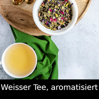Weisser Tee, aromatisert