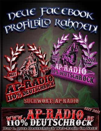 AP-Radio 110% Deutschrock Facebook Profilbild Rahmen