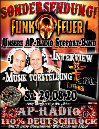FunkFeuer Sondersendung bei AP-Radio - 110% Deutschrock