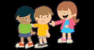 Illustration: Konflikt zwischen Kindern