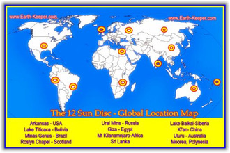 The 12 Sun Disc - Global Location Map