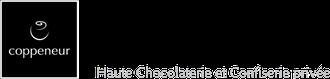 Die Grafik zeigt das Logo der Fa, Coppeneur mit einem  grauen Symbol und einem Schriftzug auf schwarzem Quadrat