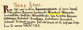 The Wythall entry in the Domesday Book from Open Domesday. See Acknowledgements for a link to that website.
