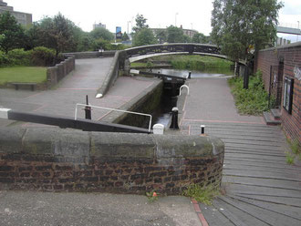Top lock of the Aston Eleven near the Digbeth Branch Canal junction