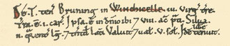 Wiggins Hill's entry in the Domesday Book from the Open Domesday website. See Acknowledgements. Click the image to enlarge.