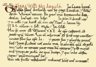 Selly's entry in the Domesday Book from Open Domesday.  Click to enlarge.