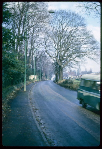 Metchley Lane, photographed by Phyllis Nicklin in 1966, the boundary between Harborne and Edgbaston and formerly between Staffordshire and Warwickshire. See Acknowledgements Keith Berry.