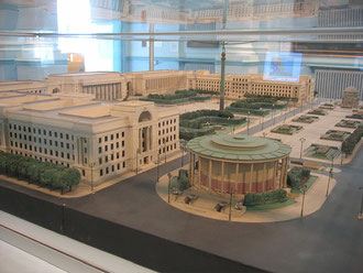 Model of 1918 civic centre plan in Birmingham Museum & Art Gallery