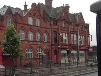 Aston Cross Library (left), Aston Cross Tavern (right)