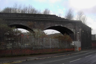 The unfinished Duddeston Viaduct