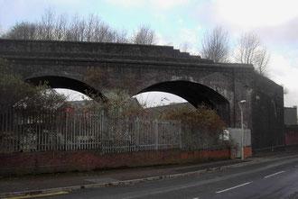 The unfinished Duddeston Viaduct