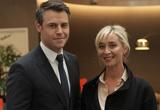 Rodger with Asher Keddie