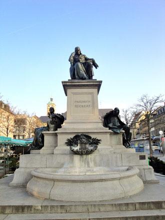 Das Rückertdenkmal in Schweinfurt