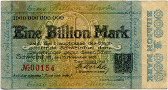 1 Billion Mark mit Unterschrift Dr. Benno Merkle