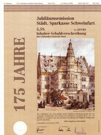 Inhaber-Schuldverschreibung 5,5 % über 100 Deutsche Mark, Februar 1998