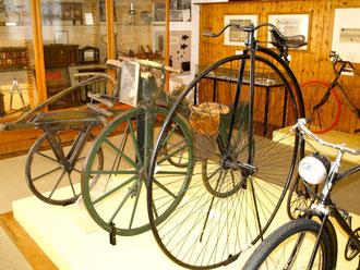 Das Tretkurbelrad im Schweinfurter Museum für Stadtgeschichte