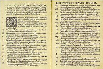 Luther's 95 Thesen - vergrößerbar!