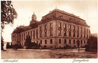Historische Ansicht des Schweinfurter Justizgebäudes