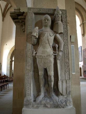 Ältestes Grabmal - Konrad v. Seinsheim, gest. 1369, erster von der Schweinfurter Bürgerschaft frei gewählter Reichsvogt v. Schweinfurt