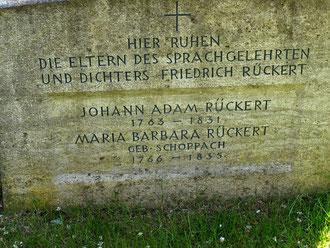 Der Gedenkstein im alten Friedhof Schweinfurt