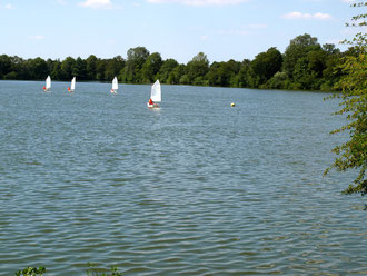 Mini-Sailing auf dem Baggersee