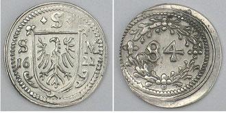 Kipper 1622, Nachprägung in Silber