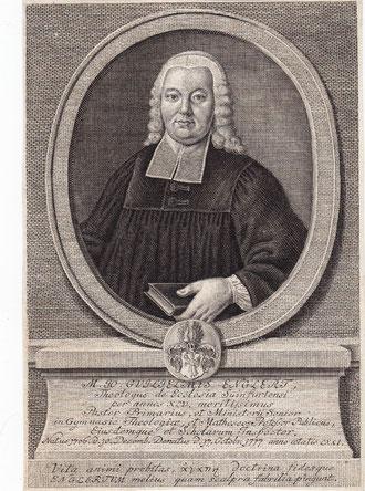 Johann Wilhelm Englert - Grabstichel und Radierung vor 1776 von Georg Paul Nusbiegel (1713 - 1776) in Nürnberg - diente als Illustration zur Leichenpredigt