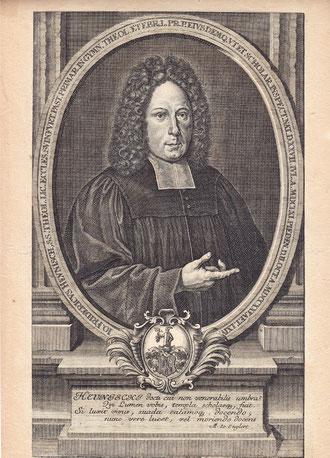 Johann Friedrich Heunisch - Grabstichel und Radierung um 1698 von Johann Christoph Böcklin, Leipzig