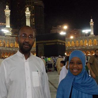 Fatima Abdulahi (links) und ihr Vater Ahmed Abdulahi