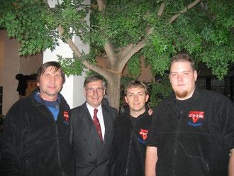 Von rechts: Daniel Stahl, Artur Stark, Martin Meißner und Manfred Wille