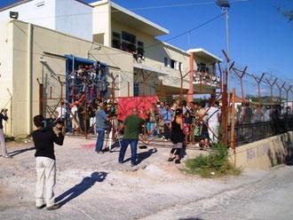 Oprør i migrantlejr på øen Lesbos