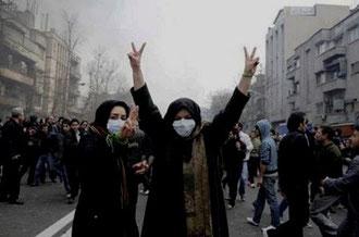Regeringskritiske protester i Teheran i januar 2011