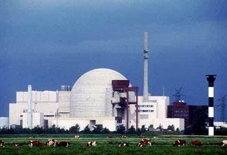 Atomkraftanlægget Brokdorf i det nordlige Tyskland