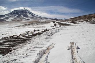 Bloqués par la neige à Piedras Rojas