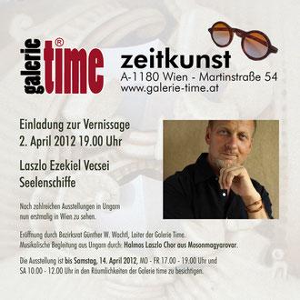 galerie time Vernissage und Ausstellung Laszlo Ezekiel Vecsei mit dem Zyklus Seelenschiffe