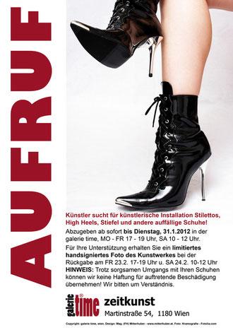 galerie time Aufruf: Künstler, Andreas Heckmann, sucht Schuhe für künstlerische Installation!