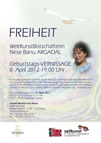 Nese Banu Argadal Vernissage und Ausstellung 8. April 2012 Galerie Merikon Wien