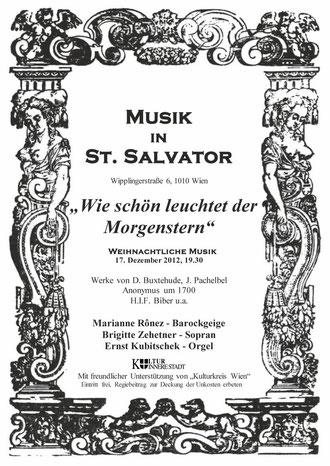 Galerie Time Freunde Konzert: Musik in St. Salvator - Weihnachtlich