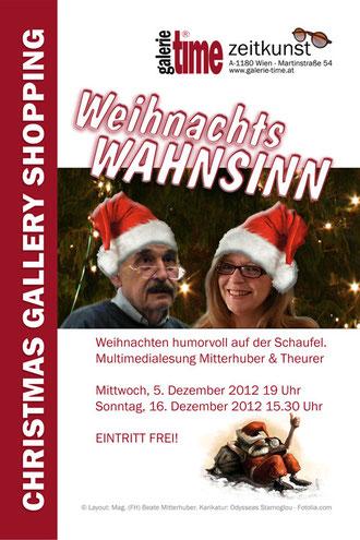 Galerie Time WeihnachtsWahnsinn die Lesung mit Humor mit Mitterhuber & Theurer