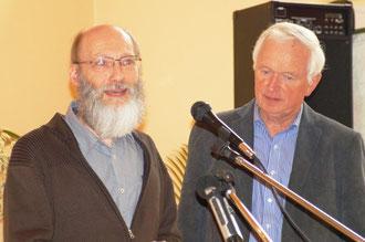 Hans-Dieter Huefgen und Pastor Hartmut Zopf