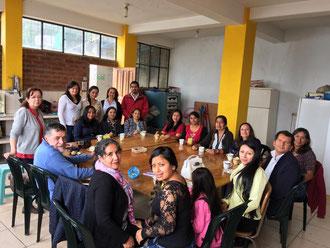 Die Mitarbeitenden der Projekte in Loja / Ecuador