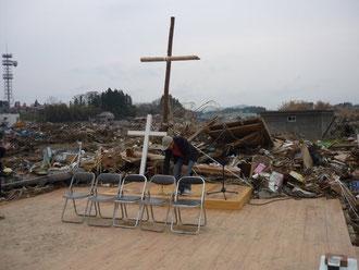 気仙沼第一聖書バプテスト教会の礼拝堂でした。