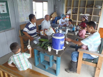 朝どりコミュニティ。岡崎家の人柄により寄せられる人が多い。福音を除けば、貸し農園の家の教会の理想