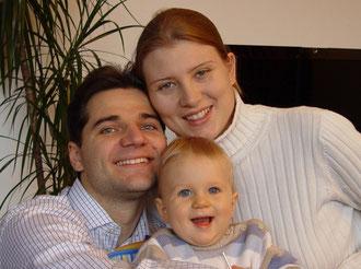 Georg, Samuel és Ines Winkler