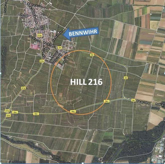 Map of Hill 216 today